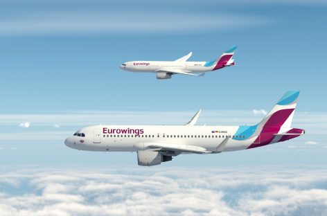 Eurowings, codeshare con Singapore Airlines su 15 rotte