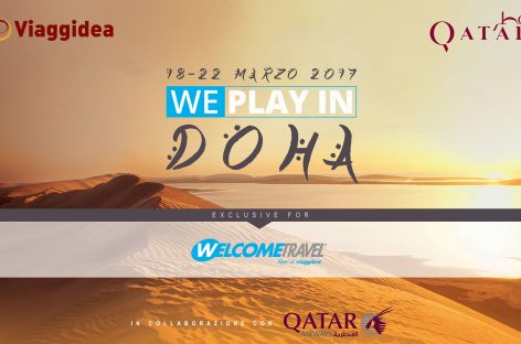 We play in Doha: 160 adv in Qatar con Welcome Travel