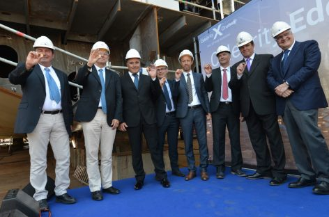 Celebrity Edge work in progress: in Francia la posa della chiglia
