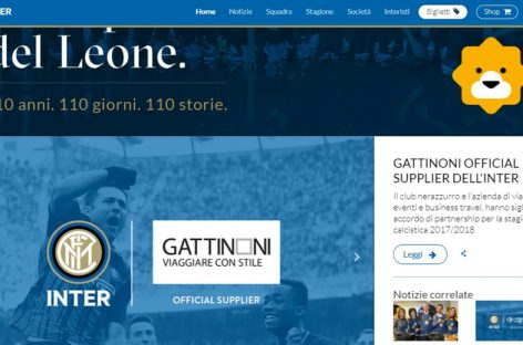 Gattinoni diventa official supplier dell'Inter 2017/18