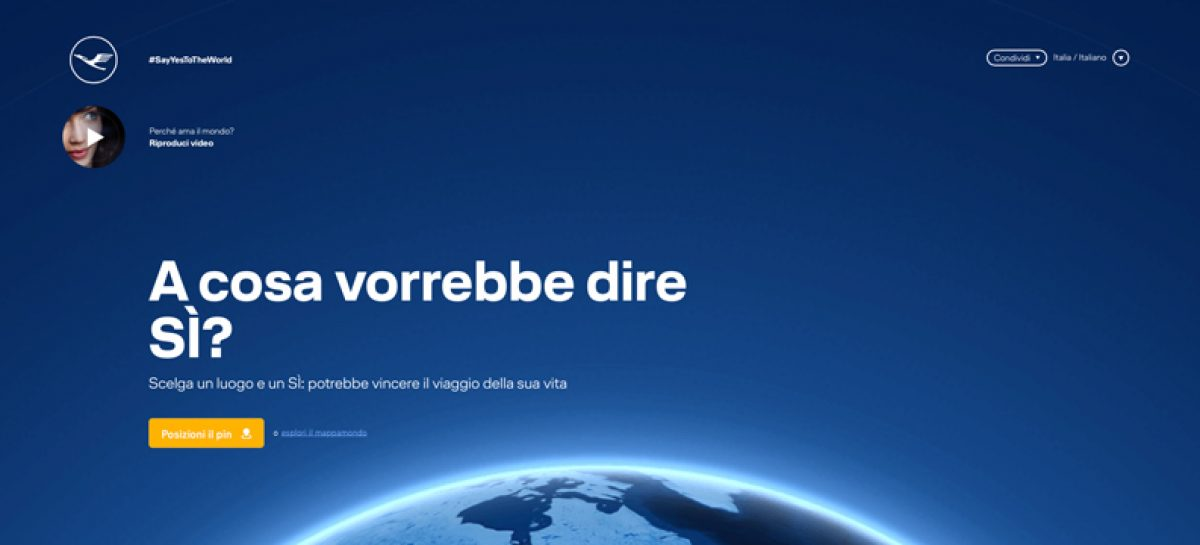 """Lufthansa, on air la campagna """"Say yes to the world"""""""