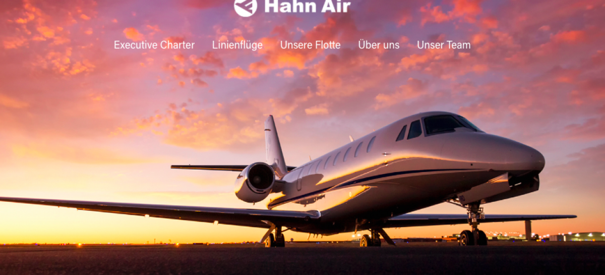 Hahn Air Lines, online il nuovo sito web