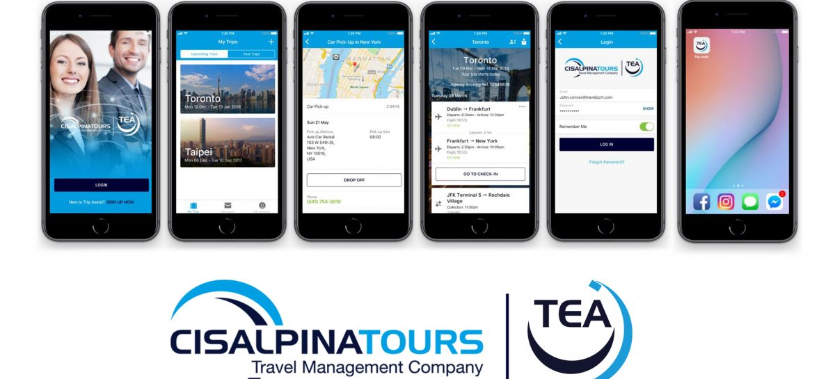 Cisalpina lancia Tea, l'app su misura per il corporate traveller