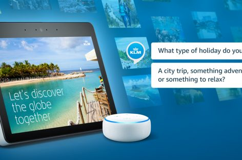 Klm a un passo dal booking vocale con  le travel guide su Alexa di Amazon