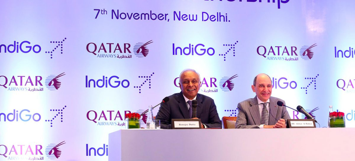 Qatar Airways guarda all'India: codeshare con IndiGo