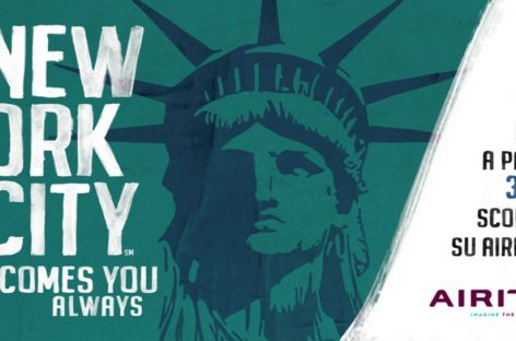 New York City, campagna globale in partnership con Air Italy