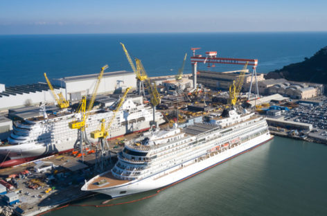 Silversea, float out di Silver Dawn ad Ancona